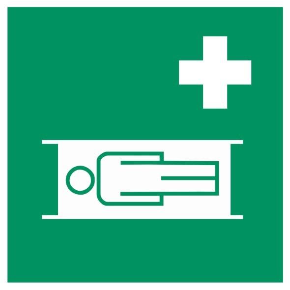 Fluchtwegeschild-6-E013-Krankentrage-DIN EN ISO 7010 Fluchtwegzeichen