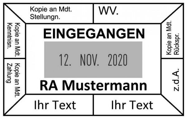 37x58 mm · Eingangsstempel · Datumtempel gestalten Tabellenstempel mit Datum