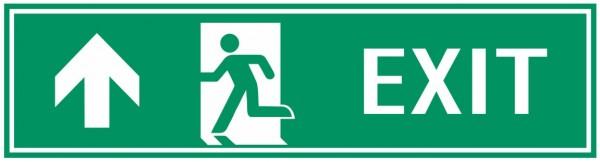 Fluchtwegeschild-7-EXIT links aufwärts 39 x 11,5 cm Fluchtwegschild