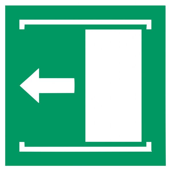 Fluchtwegeschild-6-E034-Schiebetür öffnet nach links