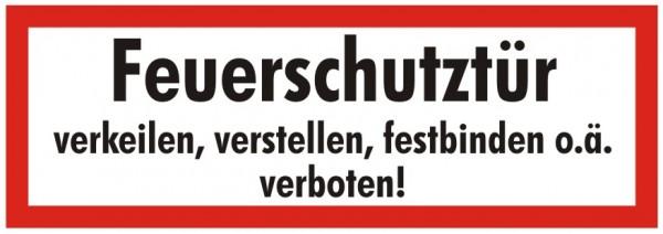 Brandschutzzeichen-9-Feuerschutztür verkeilen, verstellen, festbinden verboten-Textschild DIN 4066 B