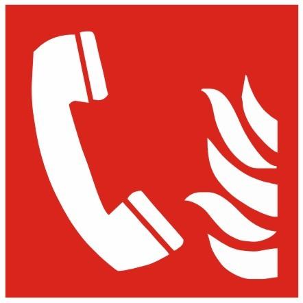 Brandschutzzeichen-8-F006-Brandmeldetelefon- nach DIN EN ISO 7010 Brandschutzzeichen