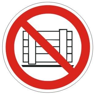 Verbotszeichen-1-P023-Abstellen oder Lagern verboten-DIN EN ISO 7010