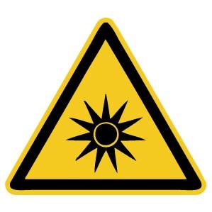 Warnzeichen-4-W027-Warnung vor optischer Strahlung-DIN EN ISO 7010