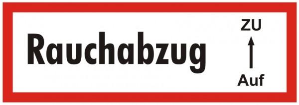Brandschutzzeichen-9-Rauchabzug Auf-Zu-Textschild DIN 4066 Brandschutzschilder