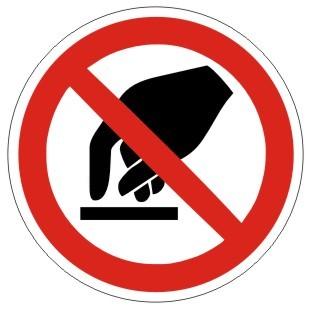 Verbotszeichen-1-P010-Berühren verboten-DIN EN ISO 7010