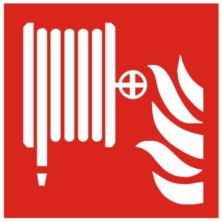 Brandschutzzeichen-8-F002-Löschschlauch- nach DIN EN ISO 7010 Brandschutzzeichen