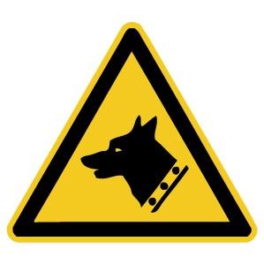 Warnzeichen-4-W013-Warnung vor dem Wachhund-DIN EN ISO 7010