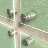 ø 13 mm Abstandshalter V2A mit Gewinde · Glashalter · Edelstahl Schilderhalter