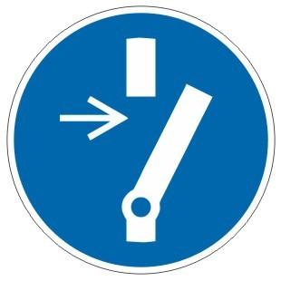 Gebotszeichen-3-M021-Vor Wartung oder Reparatur freischaltung-DIN EN ISO 7010