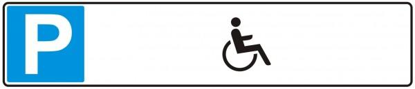 Parkplatzschild Rollstuhl Platine 52 x 11 cm