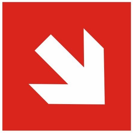 Brandschutzzeichen-8-Richtungspfeil schräg Brandschutzzeichen