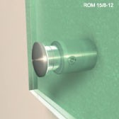 ø 14 mm Balliger Abstandshalter V2A mit Inbus · Glashalter · Edelstahl Schilderhalter