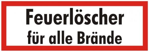 Brandschutzzeichen-9-Feuerlöscher für alle Brände-Textschild DIN 4066 Brandschutzschild
