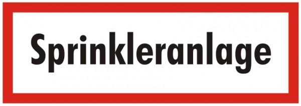Brandschutzzeichen-9-Sprinkleranlage -Textschild DIN 4066 Brandschutzzeichen