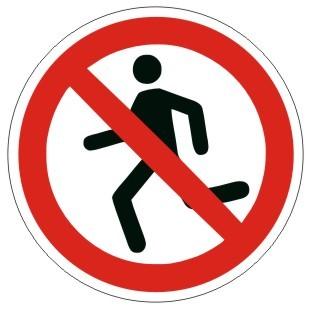 Verbotszeichen-2-P001-Laufen verboten-DIN 4844