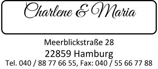 30x69 mm · Adressstempel · Friseurstempel · Firmenstempel