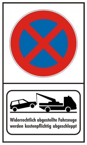 Parkverbot Absolut Hochformat mit Abschleppsymbol