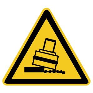 Warnzeichen-5-W024-Warnung vor Kippgefahr beim Walzen-DIN 4844