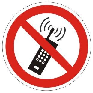 Verbotszeichen-1-P013-Eingeschaltete Mobiltelefone verboten-DIN EN ISO 7010