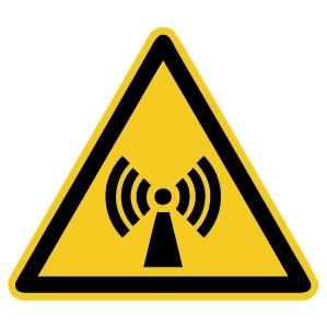 Warnzeichen-4-W005-Warnung vor nichtionisierender Strahlung-DIN EN ISO 7010