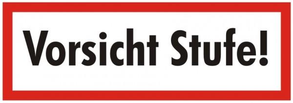 Brandschutzzeichen-9-Vorsicht Stufe-Textschild DIN 4066 Brandschutzschild