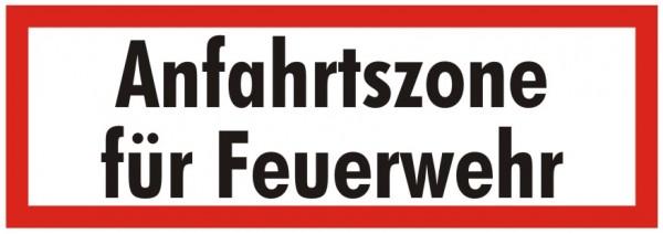 Brandschutzzeichen-9-Anfahrtszone für Feuerwehr-Textschild DIN 4066 Brandschutzschild