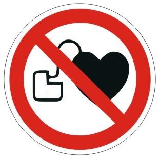 Verbotszeichen-1-P007-Kein zutritt für Personen mit Herzschrittmachern oder implantierten Defibrilla