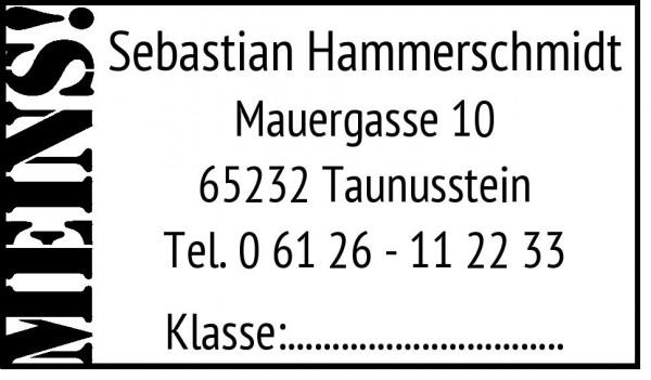 24x41 mm · Adresstempel · Familienstempel · Stempelmuster