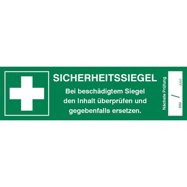 Sicherheitssiegel für Erste Hilfe Koffer