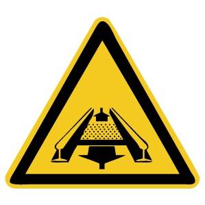 Warnzeichen-5-W029-Warnung vor Gefahren durch eine Förderanlage im Gleis-DIN 4844