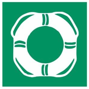 Fluchtwegeschild-6-E001-Öffentliche Rettungsausrüstung-DIN 4844 Fluchtwegschild