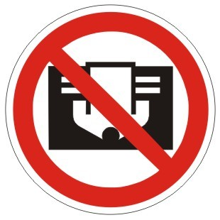 Verbotszeichen-2-P030-Nicht abdecken-DIN 4844
