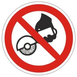 Verbotszeichen-1-P034-Freihandschleifen verboten-DIN EN ISO 7010