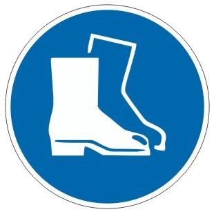 Gebotszeichen-3-M008-Fußschutz benutzen-DIN EN ISO 7010