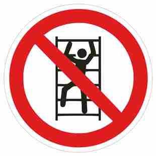 Verbotszeichen-1-P009-Aufsteigen verboten-DIN EN ISO 7010