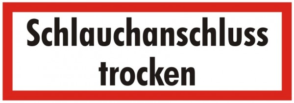 Brandschutzzeichen-9-Schlauchanschluss trocken-Textschild DIN 4066 Brandschutzschild
