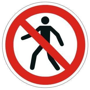 Verbotszeichen-1-P004-Für Fußgänger verboten-DIN EN ISO 7010