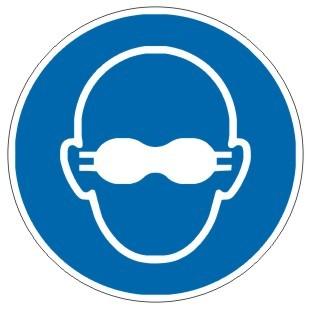 Gebotszeichen-3-M007-Weitgehend lichtundurchlässigen Augenschutz benutzen-DIN EN ISO 7010