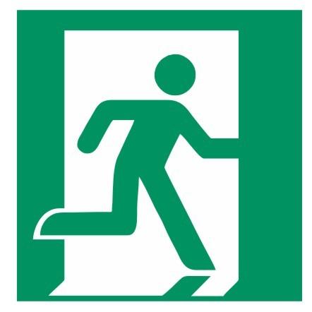 Fluchtwegeschild-6-E002-Rettungsweg - Notausgang rechts-DIN EN ISO 7010 Fluchtwegzeichen