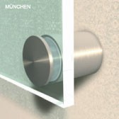 ø 40 mm Abstandshalter V2A mit Gewinde · Glashalter · Edelstahl Schilderhalter