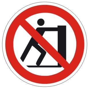 Verbotszeichen-1-P017-Schieben verboten-DIN EN ISO 7010