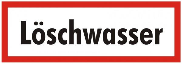 Brandschutzzeichen-9-Löschwasser-Textschild DIN 4066 Brandschutzschilder