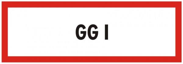 Brandschutzzeichen-9-GG 1-Textschild DIN 4066 Brandschutzschild