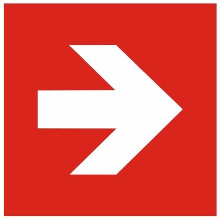 Brandschutzzeichen-8-Richtungsangabe Pfeil gerade Brandschutzzeichen