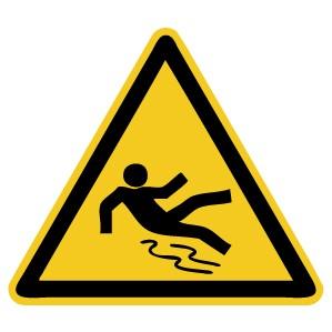 Warnzeichen-4-W011-Warnung vor Rutschgefahr-DIN EN ISO 7010