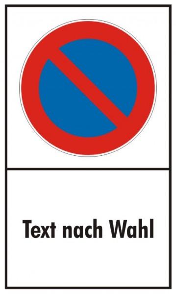 Parkverbot Eingeschränkt Hochformat mit Freifeld für Wunschtext