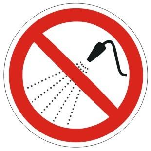 Verbotszeichen-2-P016-Mit Wasser spritzen verboten-DIN 4844