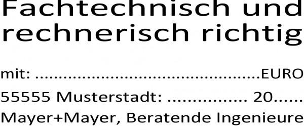 30x69 mm · Architektenstempel · Prüfstempel