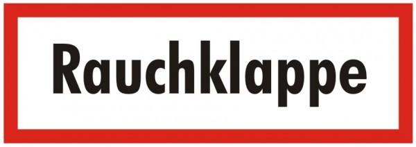 Brandschutzzeichen-9-Rauchklappe-Textschild DIN 4066 Brandschutzschild